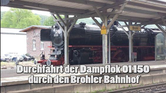 Dampflok 01 150 in Brohl