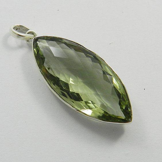 Solid 925 Sterling Silver Natural Amethyst Gemstone Everyday Wear Sweet Pendant #Handmade #Pendant