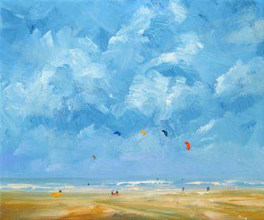 """Saatchi Art Artist W Van de Wege; Painting, """"Beach Domburg 1"""" #art"""