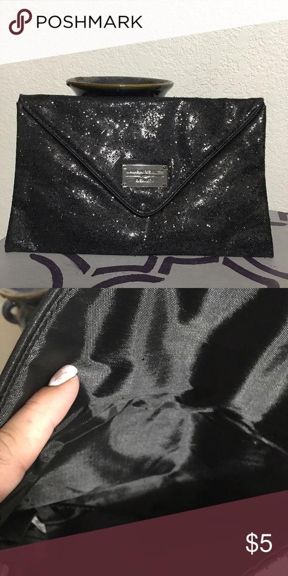 Laura Gellar bag!!! Black glitter Laura Gellar clutch type bag. Laura gellar Bags Clutches & Wristlets