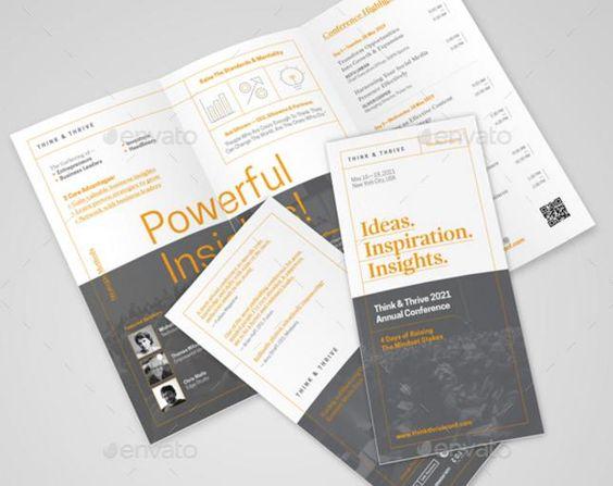 Elegant Conference Brochure Template u2013 PSD,EPS,Ai,Indesign - conference brochure template