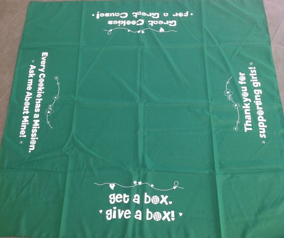 cookie sale tablecloth  20 00 girl scouts pinterest