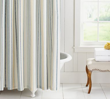 Darien Stripe Shower Curtain #potterybarn