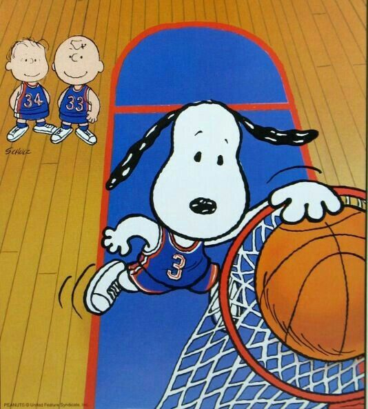 Snoopy dunking