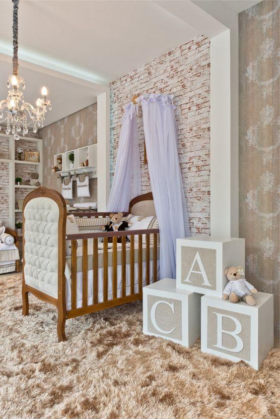 Quarto de bebê que mescla o rústico ao luxo Quartos e Bebê ~ Quarto Rustico Infantil