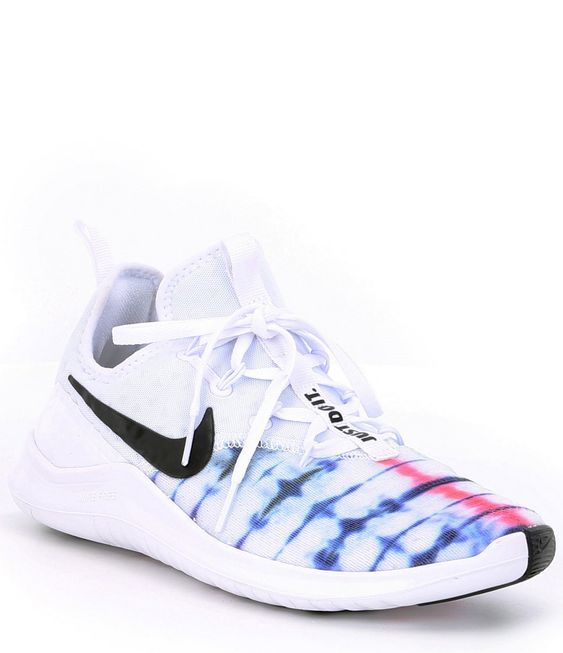 Nike Women's Free TR 8 Amp Training Shoes - White/Sunset Pulse/Black 6.5M