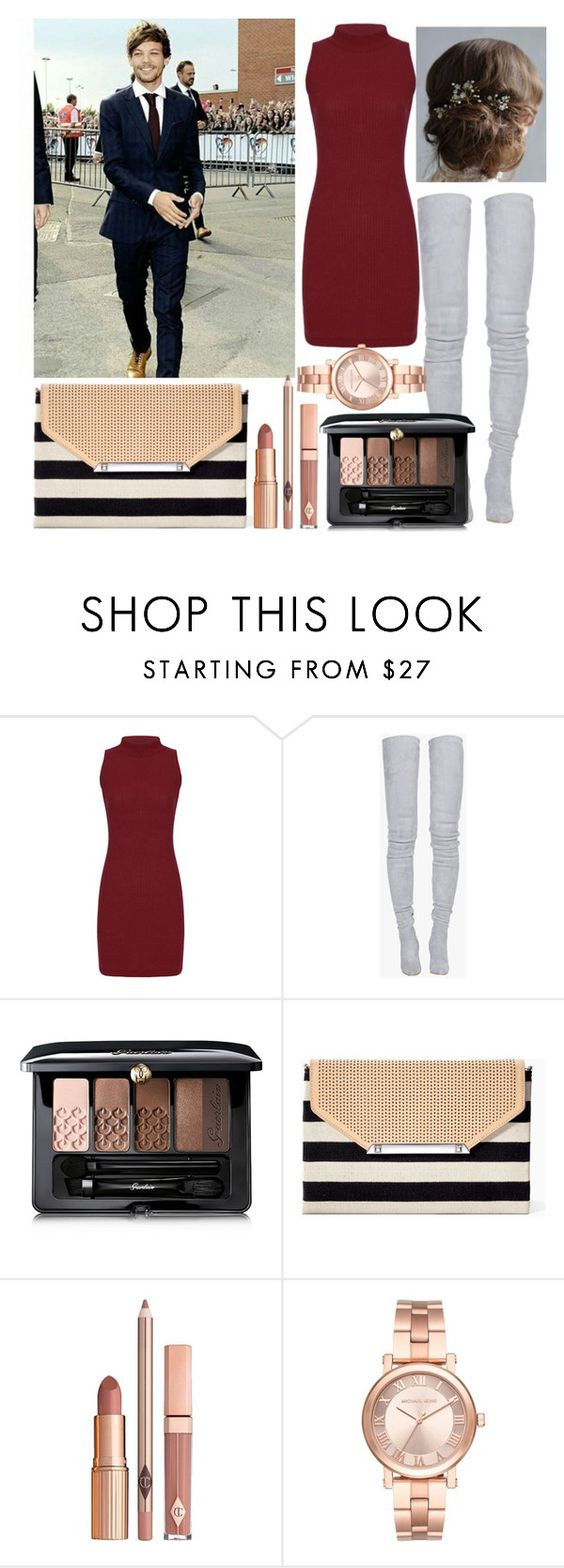 """""""X factor with Louis"""" by diva-fashionista ❤ liked on Polyvore featuring Balmain, Guerlain, Stella & Dot, Dolce Vita and Michael Kors"""