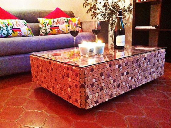 Table basse so british meubles et rangements par - Que faire avec bouchons de liege ...