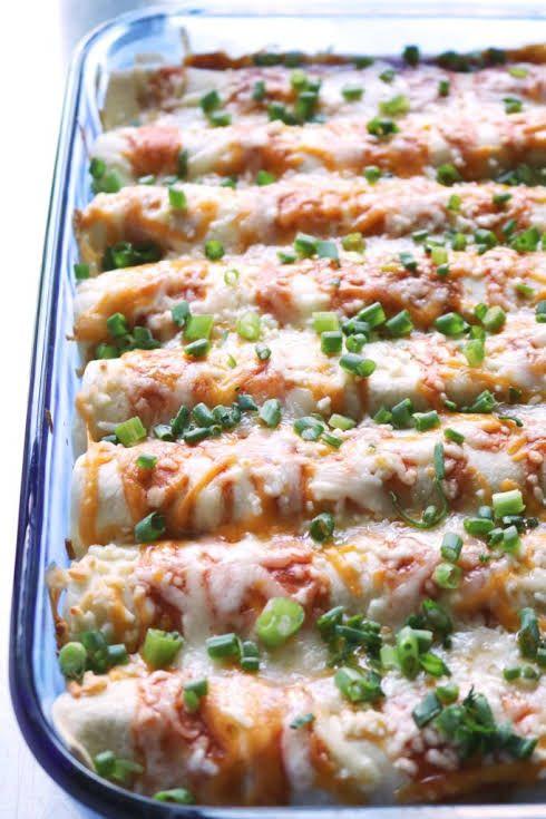 Cream Cheese Chicken Enchiladas Recipe Yummly Recipe Cream Cheese Chicken Enchiladas Cream Cheese Chicken Chicken Enchiladas