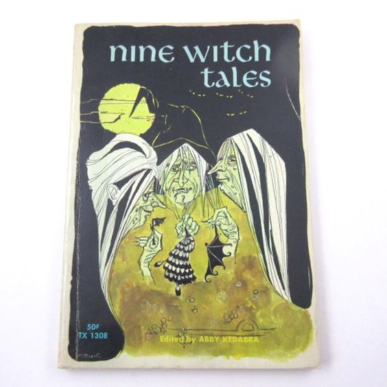 Nine Witch Tales Vintage 1960s Children's Scholastic Book by Abby Kedabra