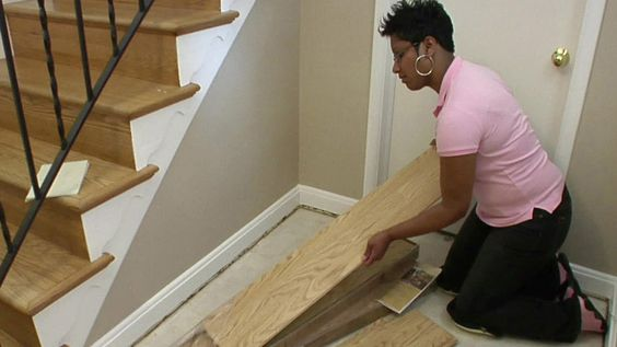 DIY Network shows you how to install laminate flooring easily. It's a snap!
