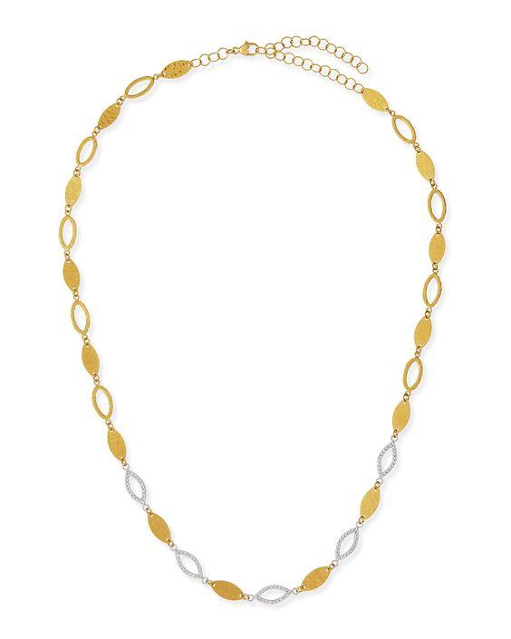 Willow 24k Gold & Diamond Short Necklace - Gurhan