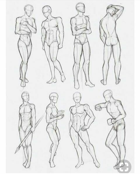 Male Neutral Poses Anatomy Sketches Drawing Body Poses Art Reference Poses