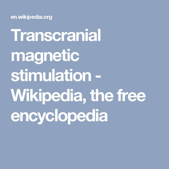 Transcranial magnetic stimulation - Wikipedia, the free encyclopedia