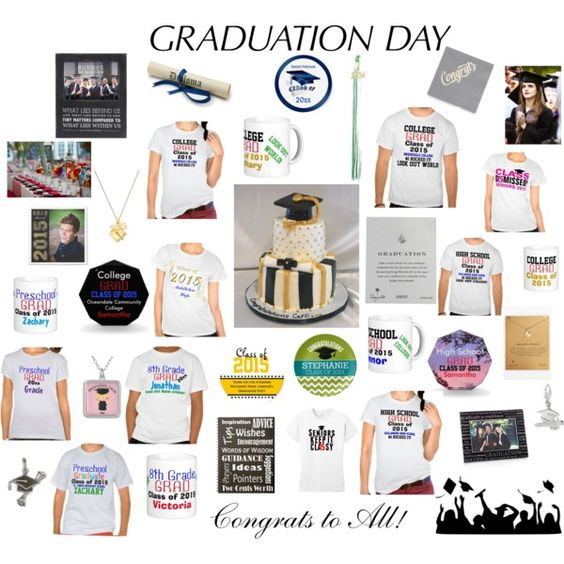 Graduation Day Congrats to All! by TamiraZDesigns on Polyvore featuring styles by TamiraZDesigns, Dogeared, La Preciosa, Breathless Paper Co. Emma Watson, Zazzle.  Original Slogan Quote Text sayings & Graphic Designs © TamiraZDesigns.  All rights reserved. Visit TamiraZDesigns store at:  www.zazzle.com/tamirazdesigns*