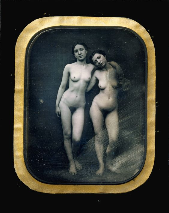 Félix-Jacques-Antoine Moulin. Two Standing Female Nudes, ca 1875.