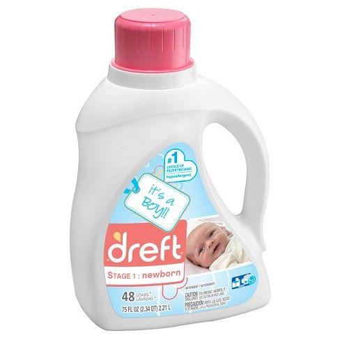 Dreft Stage 1 Newborn Liquid Laundry Detergent Hec It S A Boy Girl 75oz 48 Loads Liquid Laundry Detergent Laundry Liquid Baby Laundry Detergent