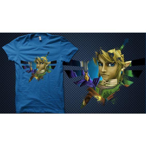 Womens Tee the Legend of Zelda Hylian Hero Twilight Princess T-Shirt ($25) ❤ liked on Polyvore