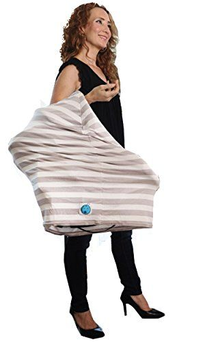 Baby Car Seat Cover Canopy and Infant Nursing Cover Multi-Use Stretchy 5 in 1 Breastfeeding And Shopping Cart And High Chair comes in Unique Gift Bag by Babyezar. Unisex Gray And White Colors. • A STYLISH, MULTI-PURPOSE ACCESSORY FOR MOMS AND THEIR BABIES. Use as a scarf-like cover-up for discrete nursing, provides 360° coverage, as a sun-shield cover over a car seat, baby carrier, or carriage, as a seat cover to put between your child and the baby seat in a shopping cart, and more. • THE…