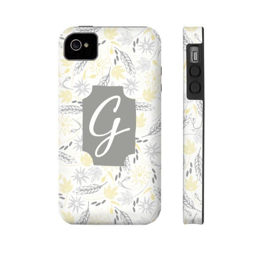 Bright & Cheery Floral Pattern Phone Case - Letter G
