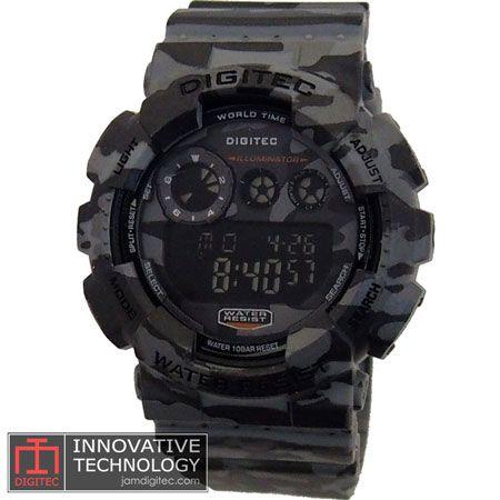 jam tangan digitec DG-2071T loreng army grey abu