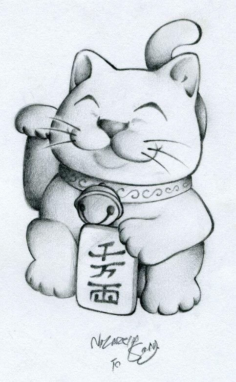 ManekiNeko-TatDesign by ~tattoosbynazareth on deviantART
