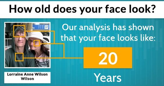 How old does your face look?