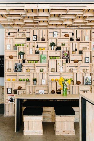21 Ideas geniales para decorar tu casa con cajas de fruta.