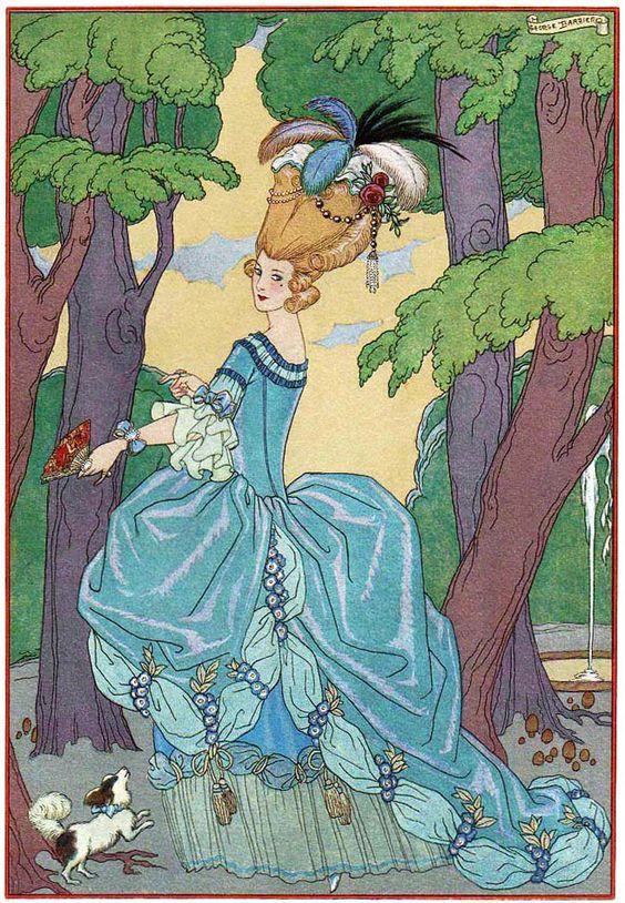 Georges Barbier (1882-1932) — 'Les Fêtes Galantes' by Paul Verlaine, 1928 (657×949):