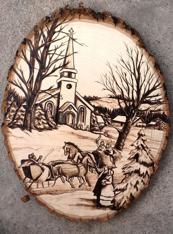 Christmas Pyrography Crafts