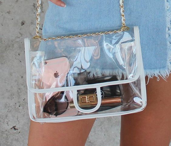 Clear Chain Bag - White - Femme Fête