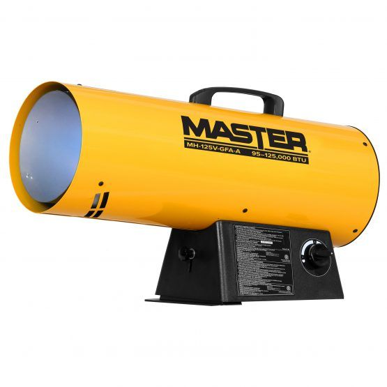 Trust Master S Propane Forced Air Torpedo Heater To Get The Job Done It Will Warm Up To 3125 Square Feet Of Your Shop Barn In 2020 Propane Heater Forced Air Heater