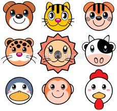 Resultado de imagen para imagenes de caras de animales animadas para colorear