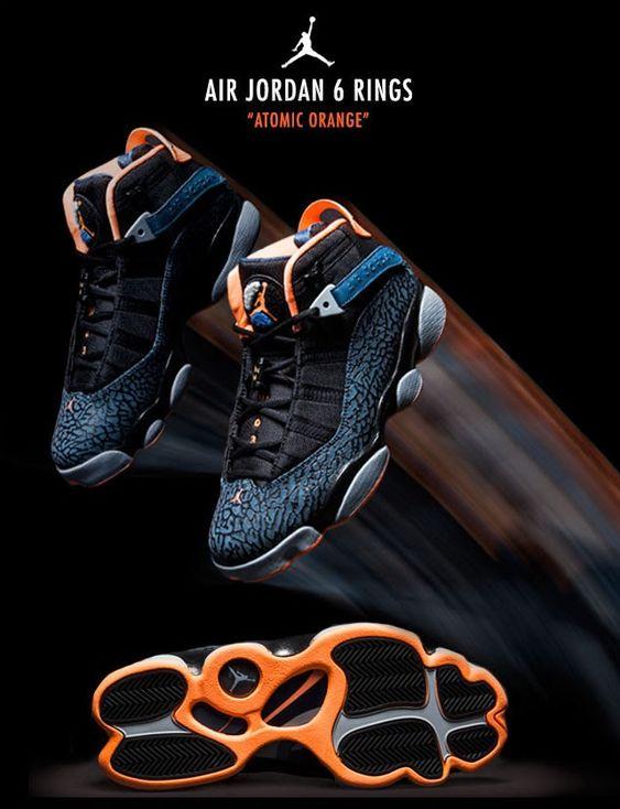Air Jordan 6 Rings 'Atomic Orange'