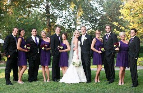 purple wedding party (originally spotted by @Dakotapta566 )