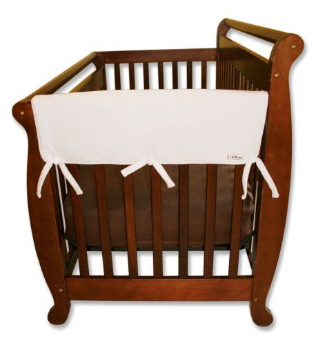 Trend-Lab Crib Wrap Rail Guard Set of Two Short Rail Guards, White Fleece $16.64