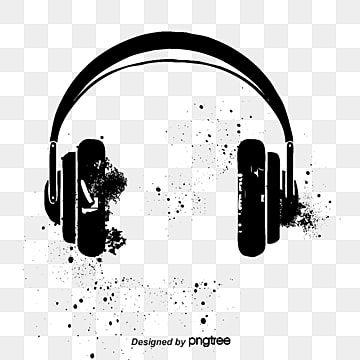 Vector Black Headphones Black Headphones Ink Ink Marks Png Transparent Clipart Image And Psd File For Free Download Headphones Art Black Headphones Wearing Headphone