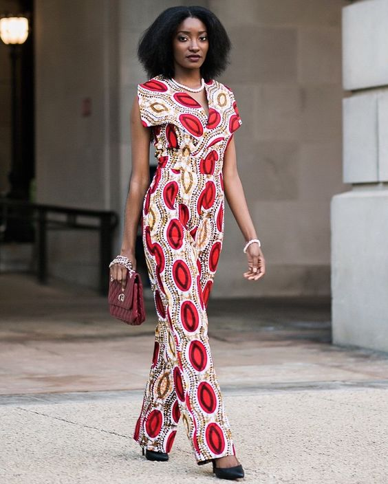Ankara Jumpsuit ~DKK ~African fashion, Ankara, kitenge, African women dresses, African prints, African men's fashion, Nigerian style, Ghanaian fashion.: