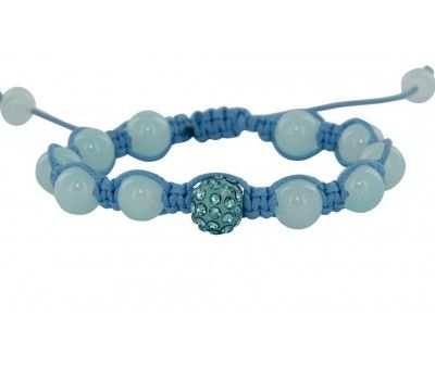 Bracelet Perles et Strass Bleu