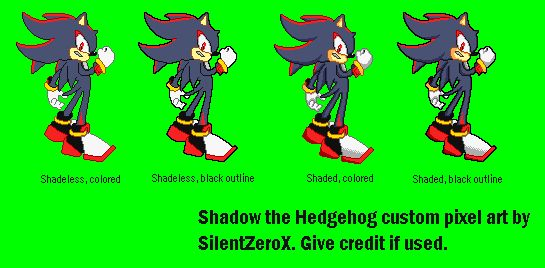 Shadow Pixel Art | Shadow the Hedgehog Pixel Art by ~Silent-the-Hedgehog on deviantART
