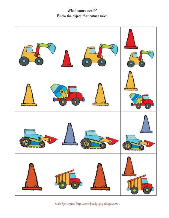 preschool printables preschool and vehicles on pinterest. Black Bedroom Furniture Sets. Home Design Ideas