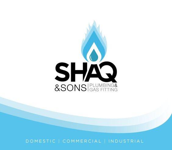 shaq amp sons plumbing logo design pinterest logos