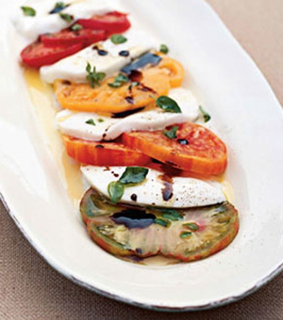 Caprese Salad: Fresh, healthy choices help your body perform at it's peak and make you feel good!