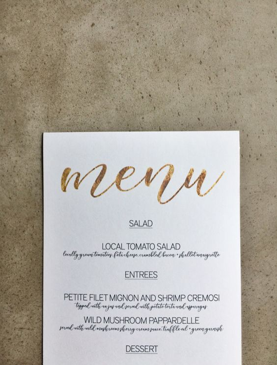 free wedding menu templates - free download gold menu template matrimonio matrimoni