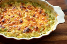 Peas Au Gratin     My husband and I just returned from a weekend in Arizona visiting our daughter who's away at college. It was an awesom...