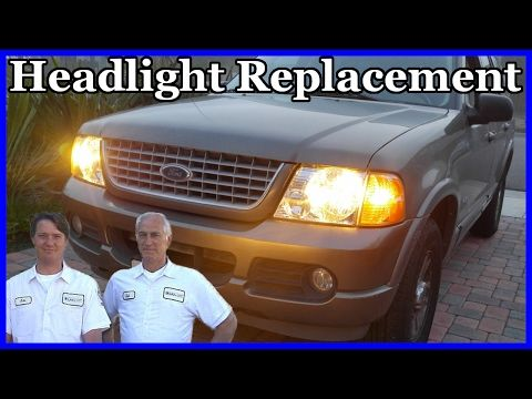 How To Replace The Headlight Lens And Bulb Ford Explorer 2002 2005 Youtube En 2020