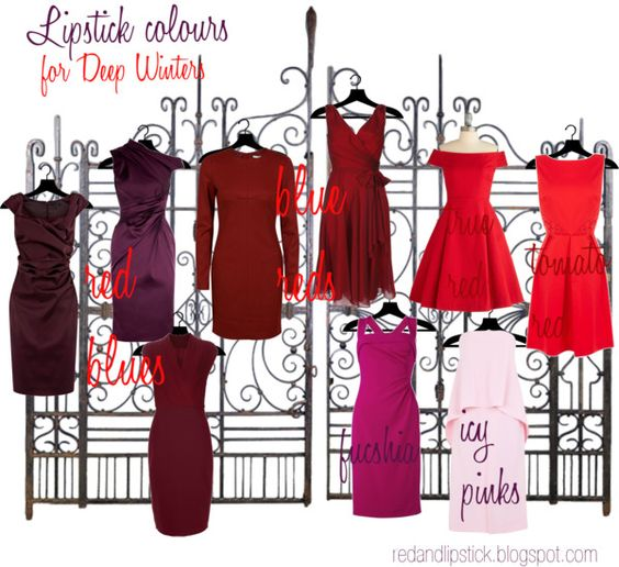 Lipstick colours for Deep Winters