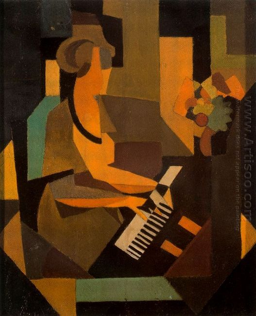 Rene Magritte Georgette At The Piano - Artisoo.com
