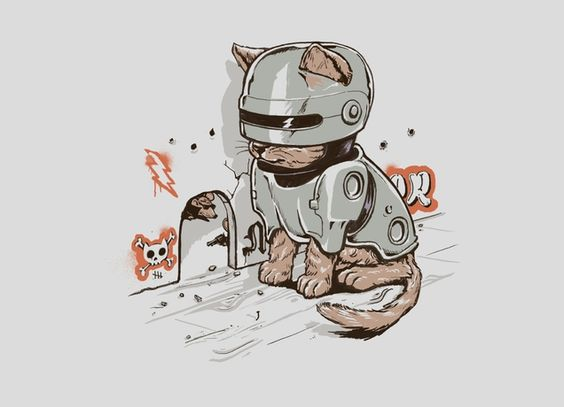 """Robocat"" - Threadless.com - Best t-shirts in the world"