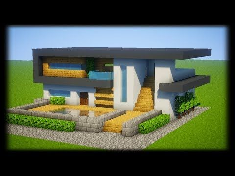 Tuto Belle Maison Moderne Facile A Faire Minecraft Youtube